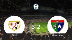 El Rayo B suma tres puntos después de ganar 3-2 al Moratalaz