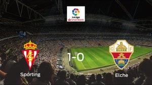 El Real Sporting logra los tres puntos frente al Elche (1-0)