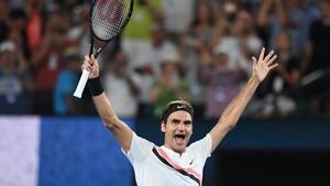 Roger Federer, eufórico tras su triunfo en Melbourne