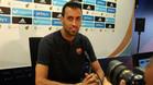 Sergio Busquets ha dado un palo a Pep Segura este martes en rueda de prensa