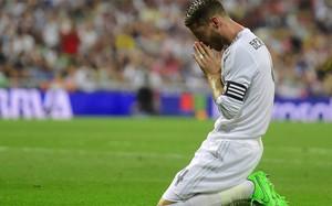 Sergio Ramos, en una acción en el partido ante el Betis