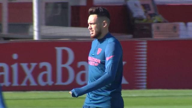 El Sevilla prepara su partido ante el FC Barcelona