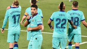 Suárez firmó un gran gol en el estadio del Villarreal