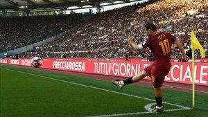 Totti en su último partido con la Roma