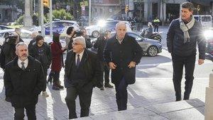 Una representación de exfutbolistas del Espanyol también asistió a la parroquia