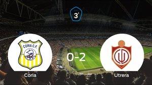 El Utrera se lleva tres puntos a casa después de ganar 0-2 al Coria
