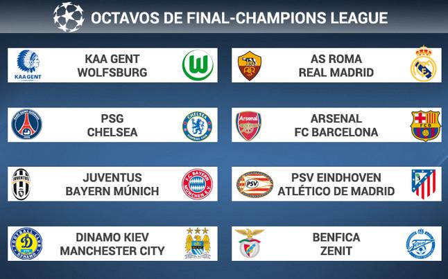 Sorteo Champion League Gallery: Sorteo Champions League Octavos: Calendario Y Emparejamientos