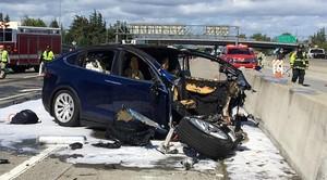 Accidente de un Tesla el pasado 25 de marzo del 2018 en California.