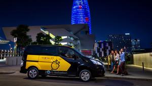 Taxi eléctrico de Nissan, la e-NV200.