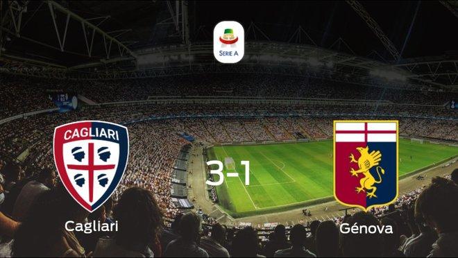 Los tres puntos se quedan en casa: Cagliari 3-1 Génova