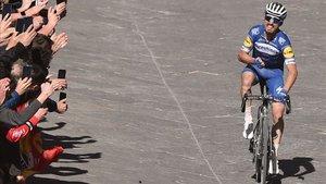 Alaphilippe ganó en Siena el año pasado