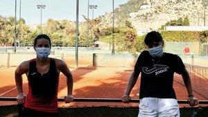 Arruabarrena y Bolsova, tras un entrenamiento en Palermo