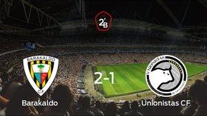 El Barakaldo gana 2-1 en su estadio frente al Unionistas