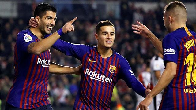 El Barça sufrió pero consiguió doblegar al Rayo en el último suspiro