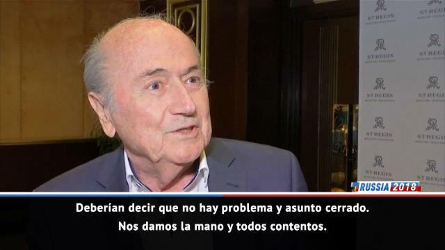 Blatter no entiende que a la FIFA le incomode su presencia