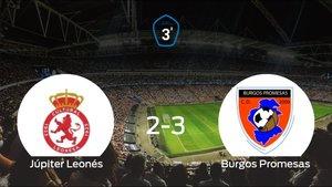 El Burgos Promesas se lleva el triunfo tras vencer 2-3 al Júpiter Leonés