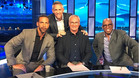 Claudio Ranieri, con Rio Ferdinand, Gary Linker e Ian Wright en los estudios de BT SPORT