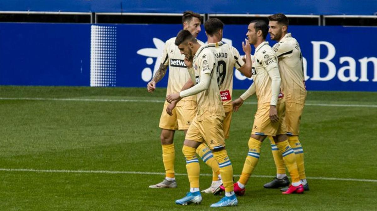Un doblete de Raúl de Tomás da la victoria al Espanyol frente al Oviedo
