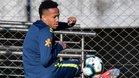 Eder Militao, en la imagen durante un entrenamiento de Brasil, será presentado como jugador del Real Madrid