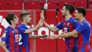 El Eibar venció en el Sánchez Pizjuán.