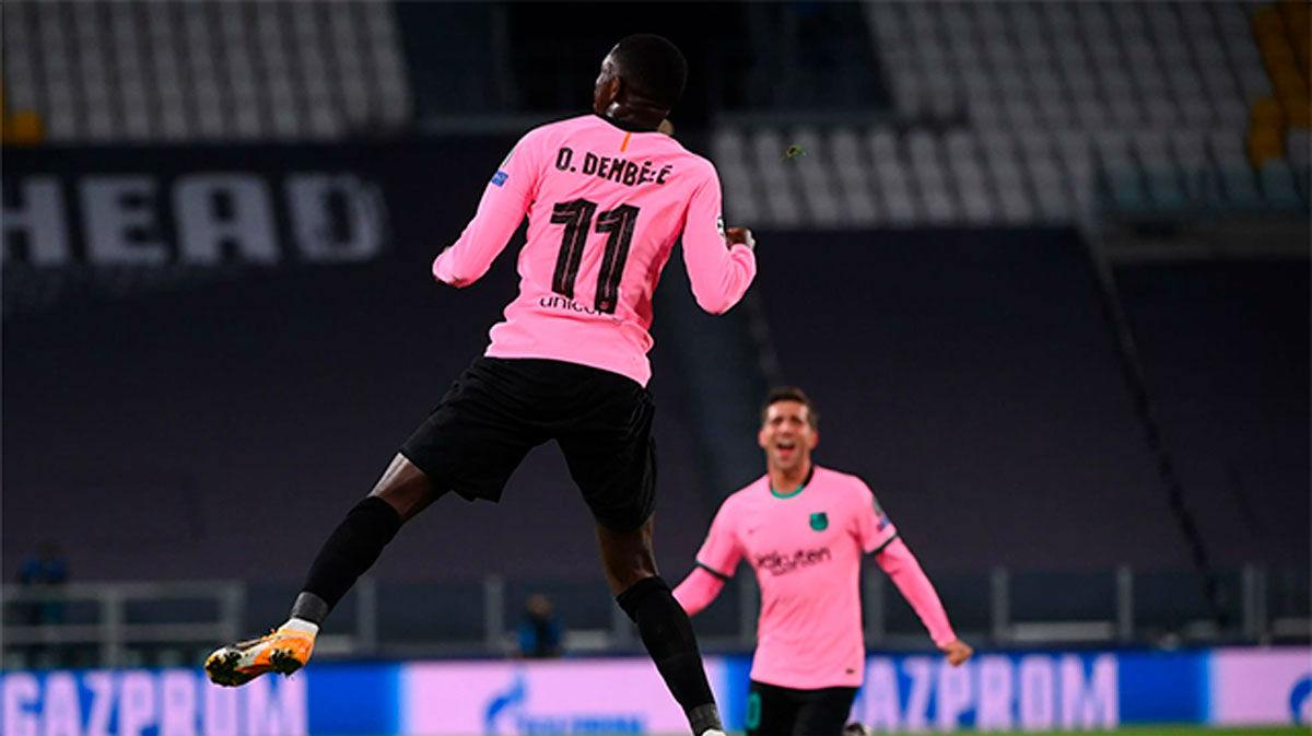 ¡Ya era hora que Dembélé tuviera algo de suerte! Así narró la radio el gol del francés ante la Juventus