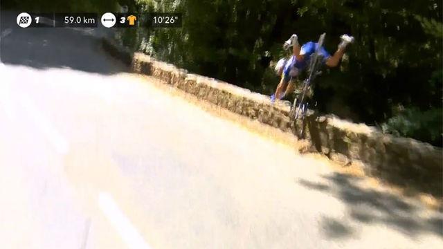 Espectacular caída de Philippe Gilbert en el Tour de Francia