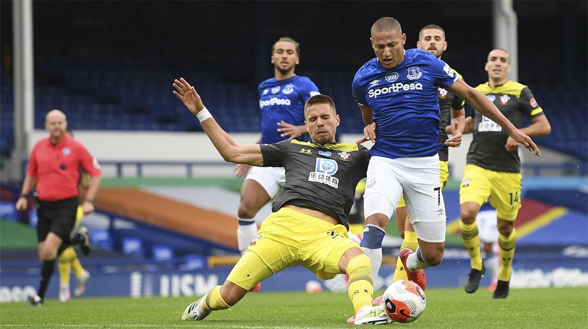 Everton y Southampton se quitan puntos
