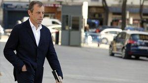 El expresidente del Barça a su llegada a la Audiencia Nacional