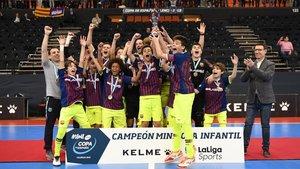 El Infantil del Barça Lassa ganó su séptima Minicopa consecutiva