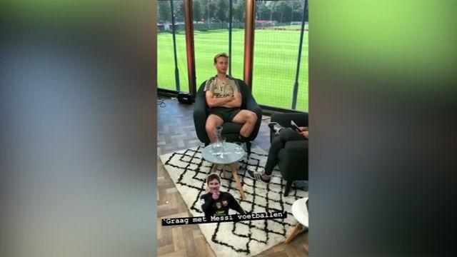 De Jong: Me gustaría jugar con Messi