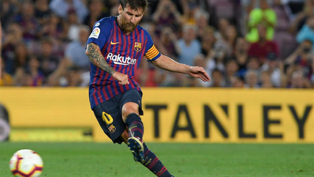 Lionel Messi scores Barcelona's 6,000th goal in La Liga