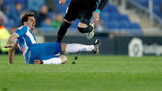LALIGA   Espanyol - Real Madrid (1-0): Victor Sánchez blocó un disparo de Bale con la mano