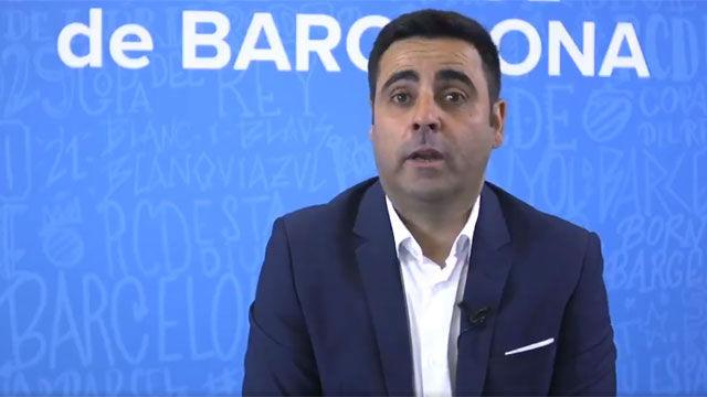 Las primeras palabras de David Gallego como nuevo entrenador del Espanyol