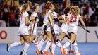 Las red sticks celebran la clasificación para los Juegos