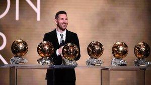 Leo Messi, coleccionista de Balones de Oro. Ya suma seis