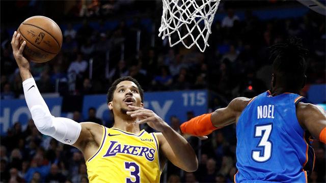 Los Lakers se llevaron la victoria ante Oklahoma