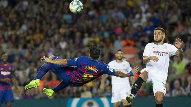 Luis Suárez continúa en racha: golazo de chilena