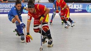 María Díez, jugadora de la selección española en una imagen de archivo