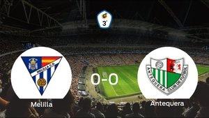 El Melilla CD y el Antequera no encuentran el gol y se reparten los puntos (0-0)