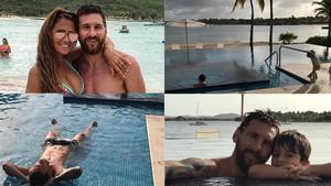 Messi, en la casa de Antigua y Barbuda