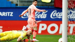 Messi marcó dos goles ante el Eibar en solo dos minutos