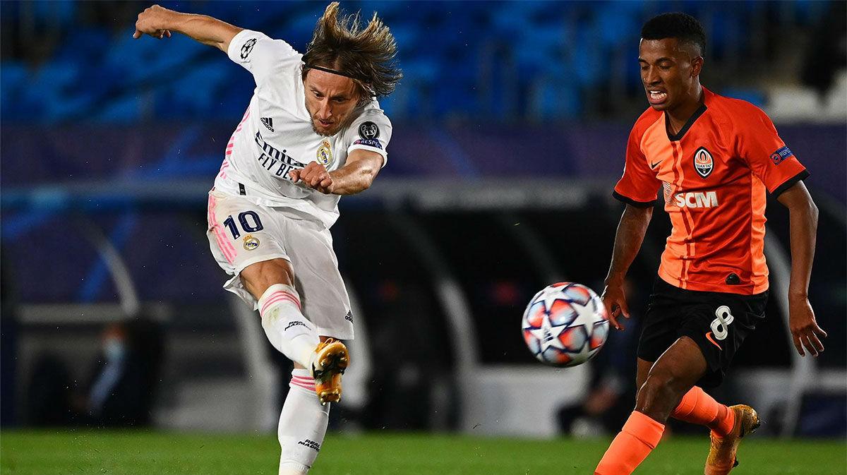 Modric dio alas al Madrid colocando el balón en la escuadra