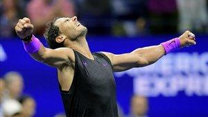 Nadal , radiante tras su triunfo en el US Open