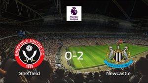 El Newcastle se lleva tres puntos tras derrotar 0-2 al Sheffield Utd