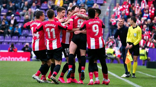El resumen de la goleada del Athletic en el feudo del Valladolid