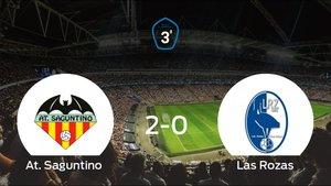 El At. Saguntino gana 2-0 en su estadio el primer partido de los cuartos de final de los playoff y consigue una importante ventaja ante el Las Rozas