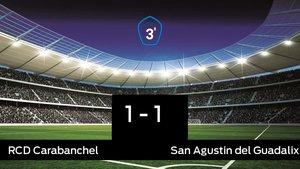 El San Agustin del Guadalix saca un punto al RCarabanchel a domicilio 1-1