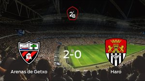 Tres puntos para el equipo local: Arenas de Getxo 2-0 Haro Deportivo
