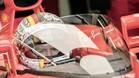 Vettel, el primero en probar el 'escudo'