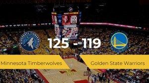 Victoria de Minnesota Timberwolves ante Golden State Warriors por 125-119